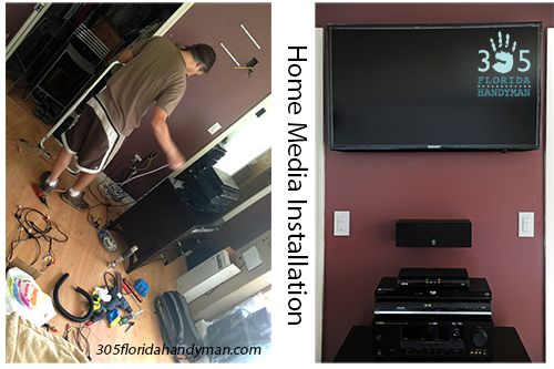 Flat Screen TV and Media Installation