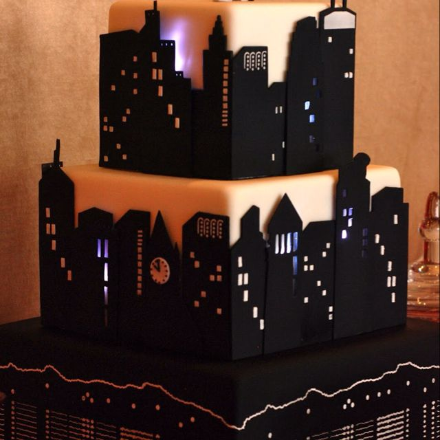 New york sky line cake fabulously made pure art x Sonya Fanjoy I