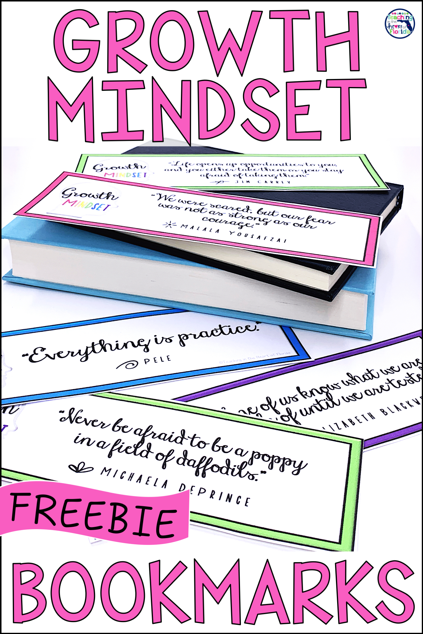 Growth Mindset Bookmarks Freebie