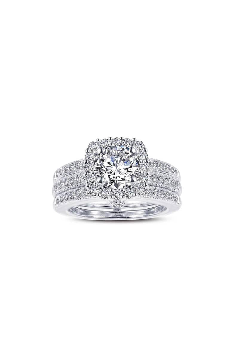 Infinite Love Simulated Diamond Wedding Ring Set By Lafonn 2 Diamond Wedding Rings Sets Simulated Diamond Rings Engagement White Gold Engagement Rings Unique