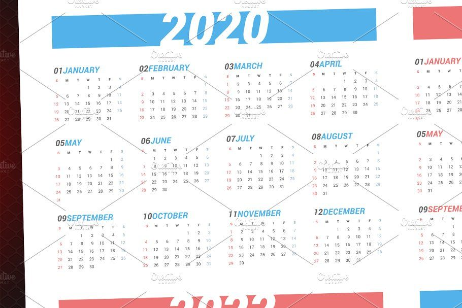 Calendar For Next 4 Years 2020 2023 Stationery Templates Calendar Template Year 2020