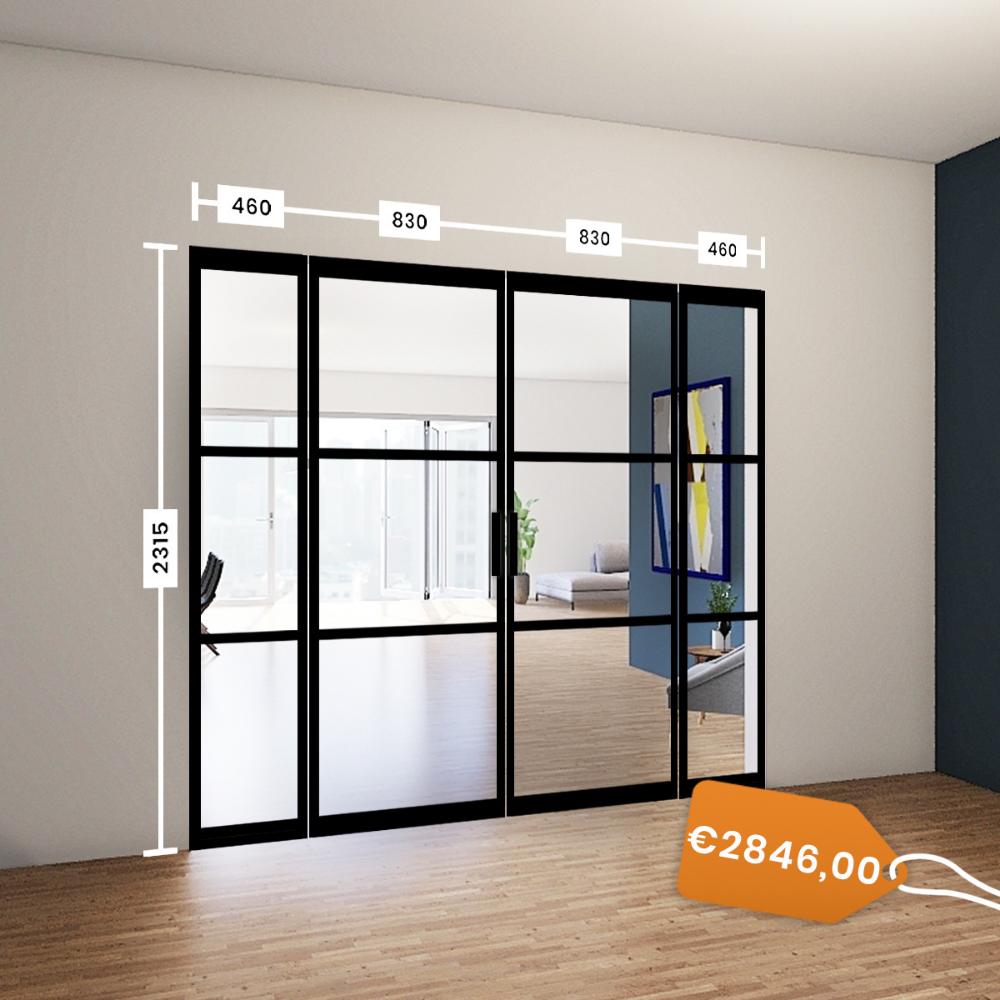 Stalen Taatsdeuren met vaste panelen voor €2846 in huis
