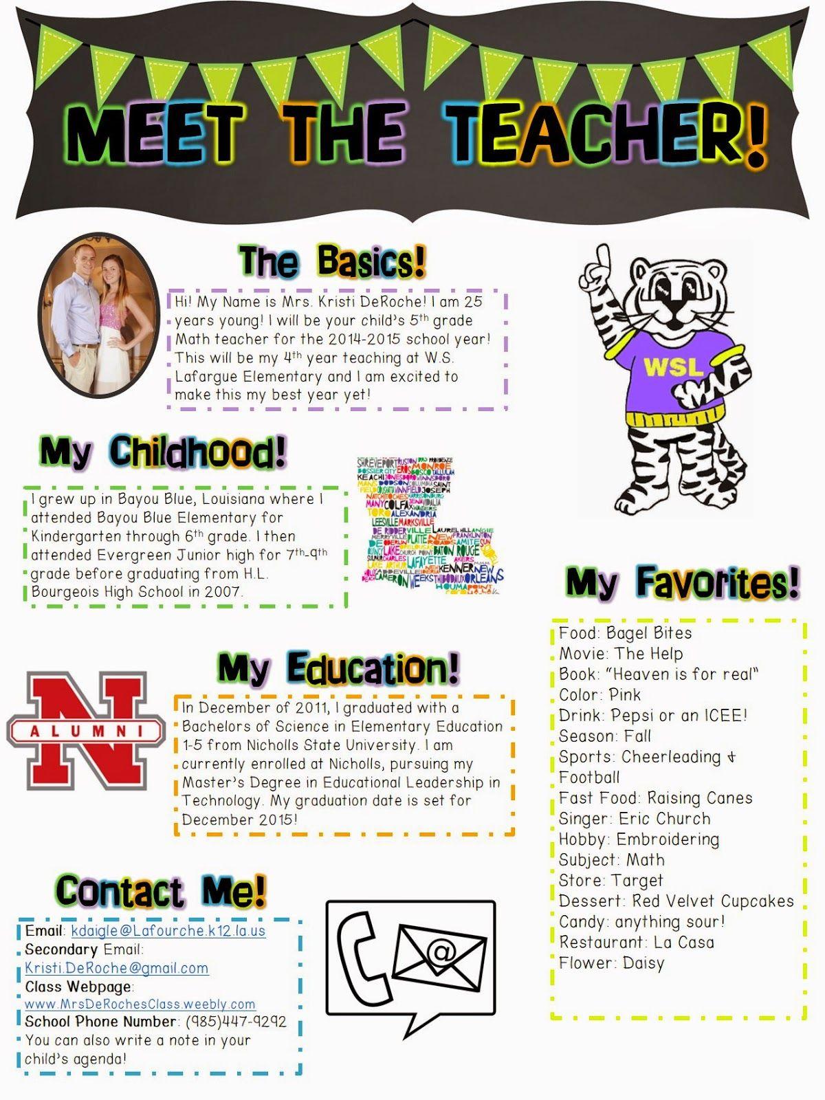 Meet The Teacher Open House Newsletter