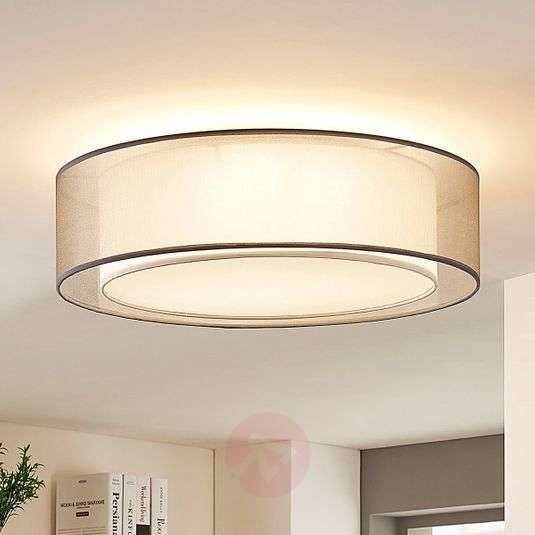 Lampa Sufitowa Z Tkaniny Amon Sciemniana Szara In 2020 Ceiling Lights Fabric Ceiling Ceiling Lamp