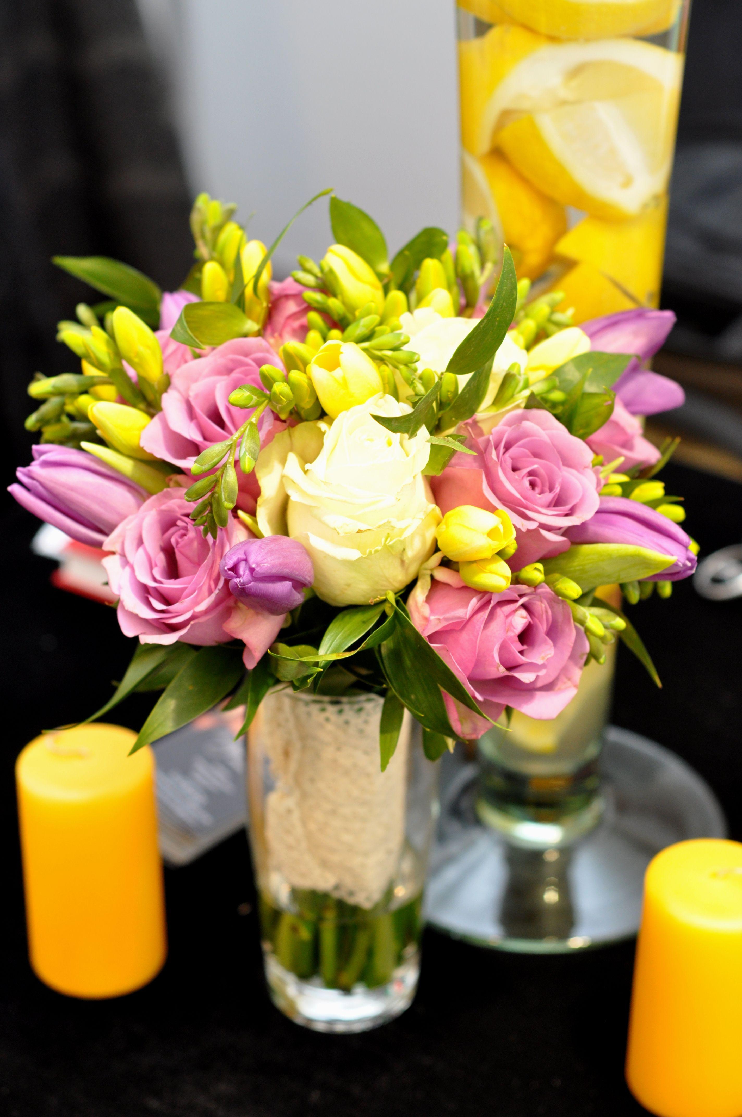 Yellow Purple Wedding Boquet Buchet Mireasa Galben Mov Wwwmaya