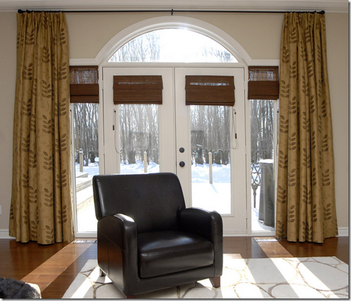 Window Treatments Hung Above Half Round Window This Does