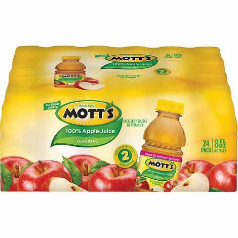 Mott's 100 Apple Juice, 8 fl oz, 24count Apple juice