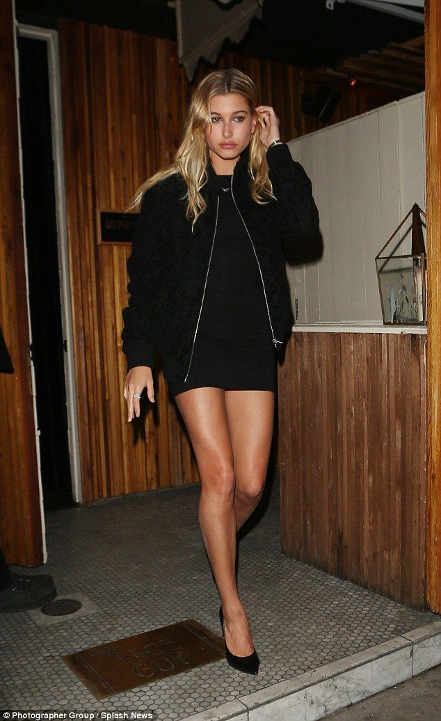 Glowing! Hailey Baldwin seemed keen to show off her newly bronzed skin when she stepped ou...