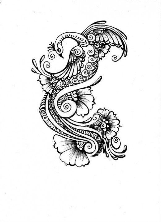 deviantART More Like Henna Peacock tattoo for your design | Tattoos ...