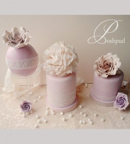 Purple Floral Mini Cakes