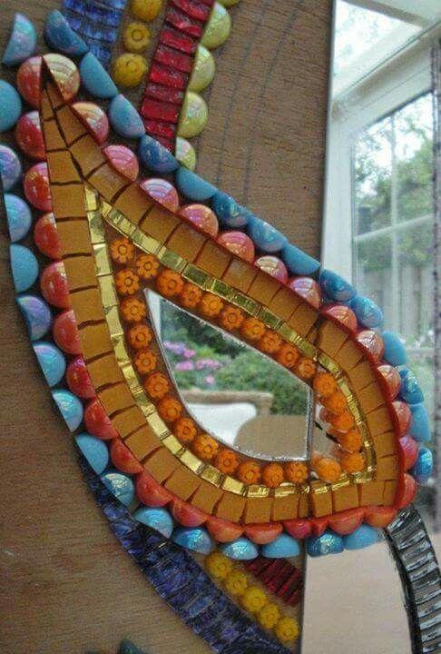 2 mosaic sobre espejo