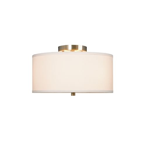 Ansley three light semi flushmount ceiling light at destination lighting