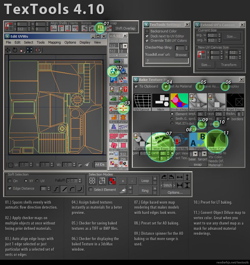 TexTools: Toolbox for the texture artist | ScriptSpot