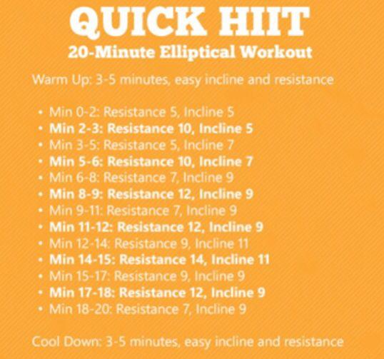 Elliptical Hiit Poids De Musculation Exercice Tapis De Course