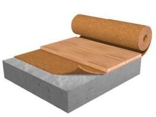 Acousti Cork R60 6mm Thick Sheet Flooring Underlayment Underlayment Rolled Rubber Flooring