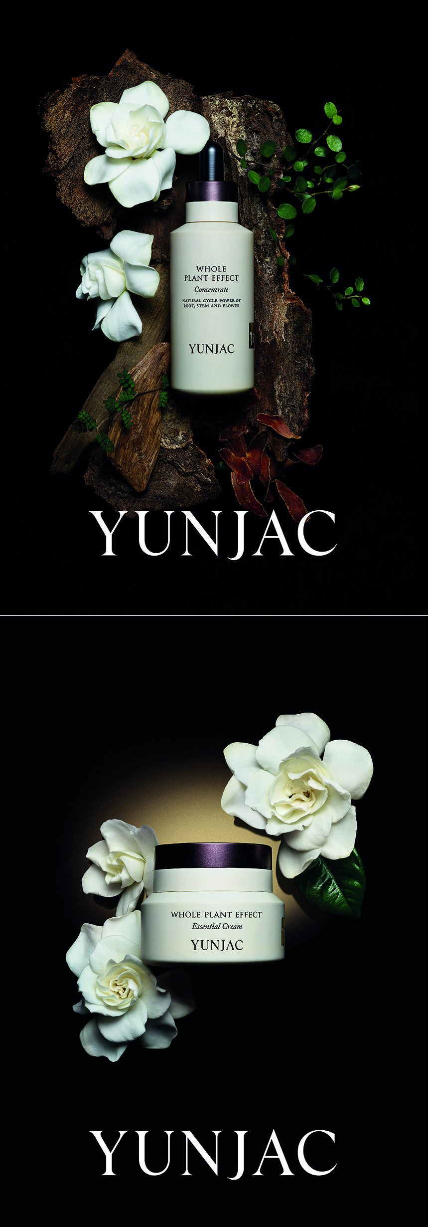 New premium Korean cosmetic brand, Yunjac. Photographed by