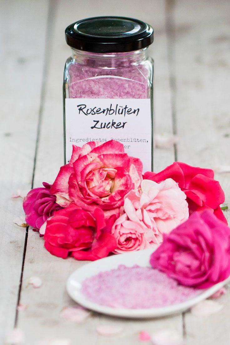 DIY Rosesugar - Leckeren Rosenblütenzucker selber machen