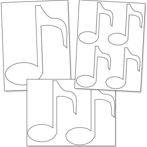 Printable Music Note Stencils Graduation Pinterest Music notes