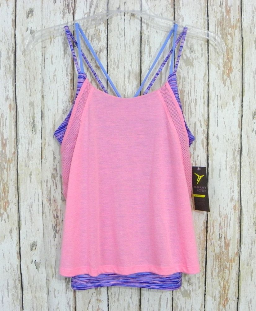 New Girls OLD NAVY ACTIVE GoDry Reaxed 2in1 Sports Bra
