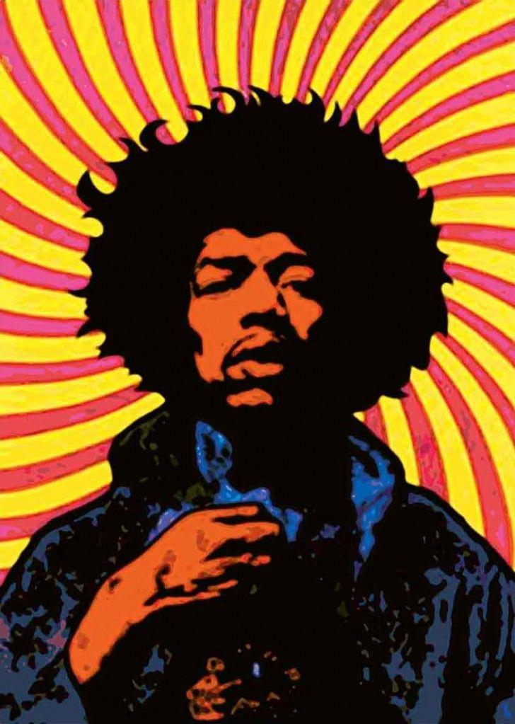 Jimi hendrix canvas painting iconic canvas art wall of - Jimi hendrix wallpaper psychedelic ...