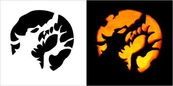 5 Best Halloween Scary Pumpkin Carving Stencils 2013   Kid Crafts ...