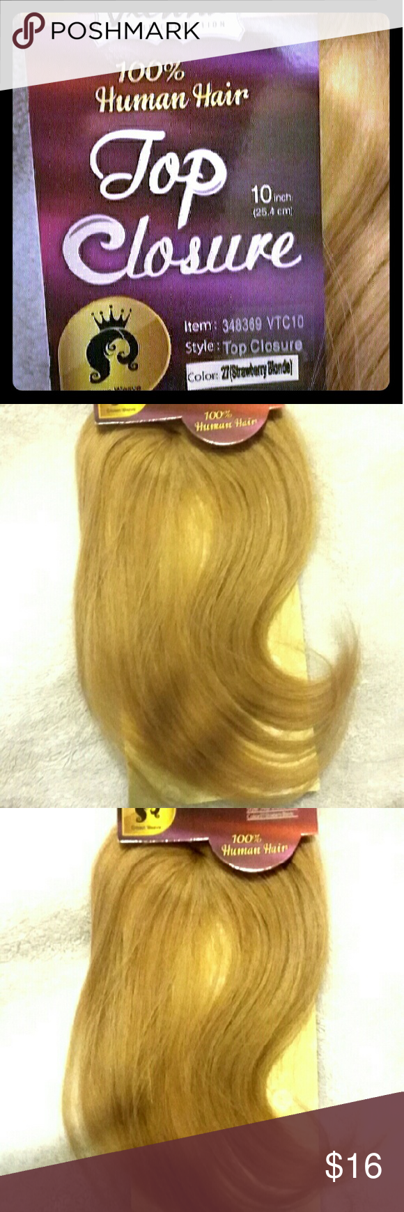 Brand New 100Human Hair Top Closure Weave Boutique 100
