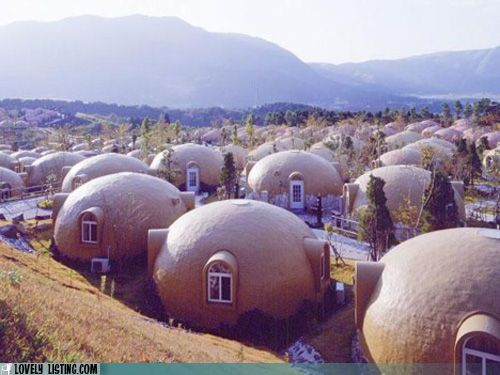 Real Mushroom Village, Japan No. I didn't goof, I put it here to remind myself how thankful to God I am to be where I am & not in a mushroom.