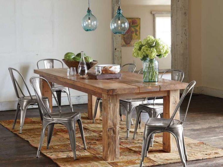 Rustic Design Dining Room Table In 42 Original Ideas Rustic Kitchen Tables Dining Room Table Decor Farmhouse Dining Room Table