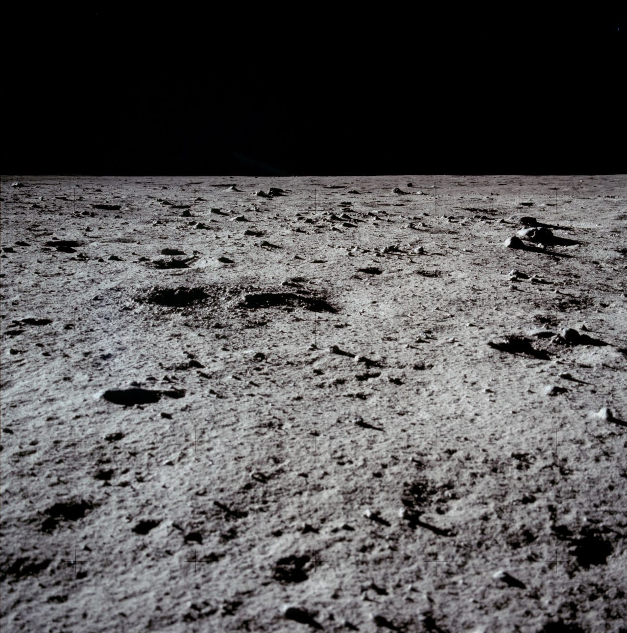 The surface of the Moon, July 1969, photographed during ...