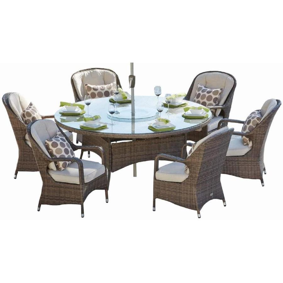 Direct Wicker Cinderella 7 Piece Brown Frame Patio Set With Beige Sunbrella Cushions Lowes Com Patio Furniture Dining Set Outdoor Wicker Patio Furniture Rattan Patio Furniture [ 900 x 900 Pixel ]