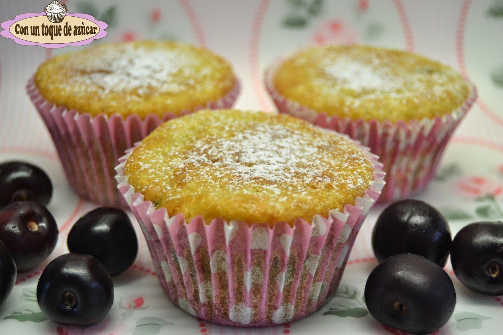 Muffins De Ricotta Y Cerezas