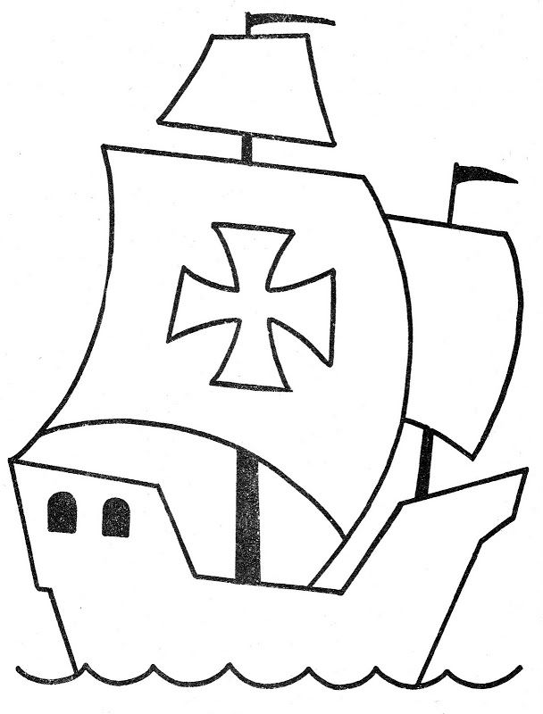Dibujo De Carabela Para Colorear Las Carabelas De Colon Cristobal Colon Para Ninos Carabelas De Cristobal Colon
