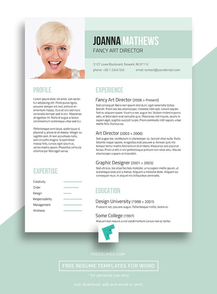 Trendy Resume Template Giveaway - Sense and Style | Free Resume