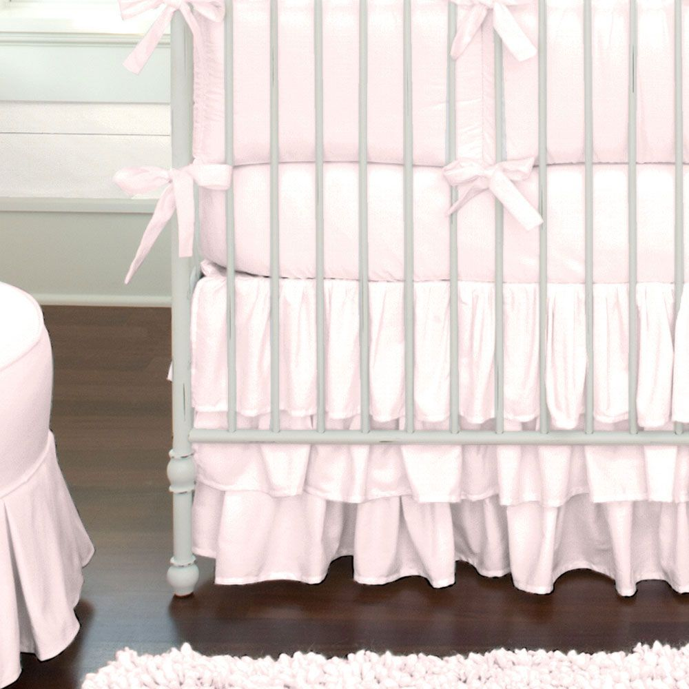 Solid Pink Baby Crib Bedding And Nursery With Images Pink Crib Crib Bedding Girl Baby Girl Crib Bedding