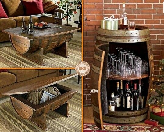 diy things you can do with an empty wine barrel i love