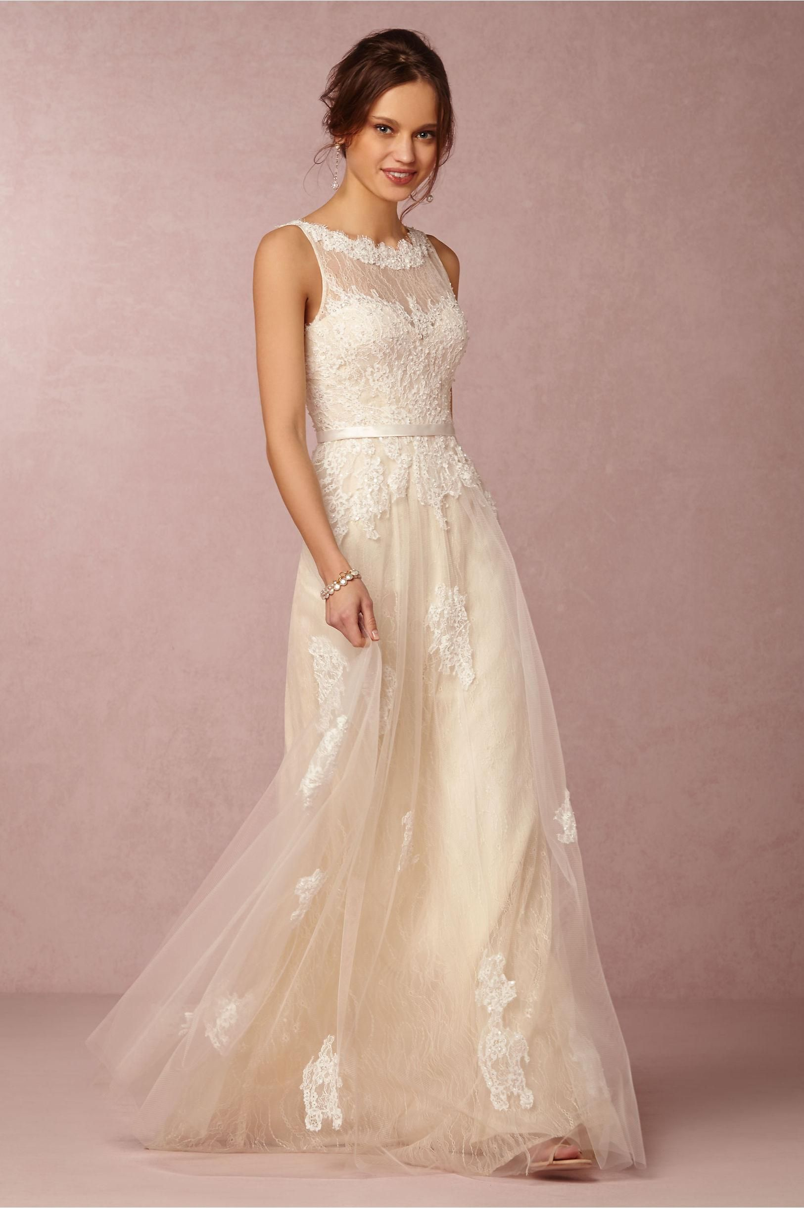 Petite Wedding Dresses Bhldn 2016 Ivory Wedding Dresses High Neck ...