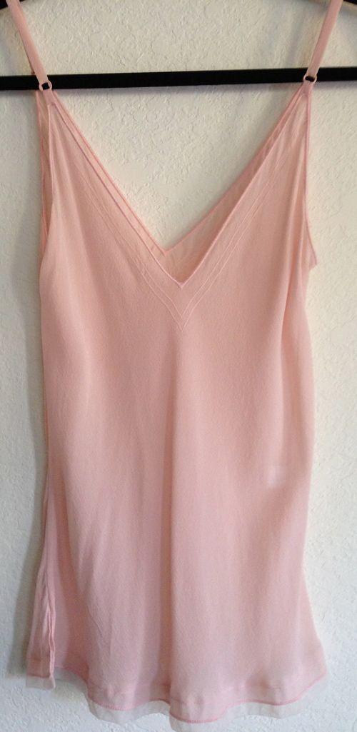 Light Pink Silk Tank, Size S - $27.00