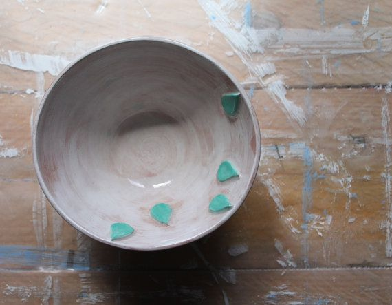 Bowl with drop by ConCreta on Etsy