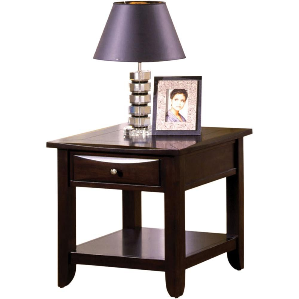 Furniture Of America Baldwin Espresso End Table Brown Espresso End Table End Tables With Storage End Tables With Drawers