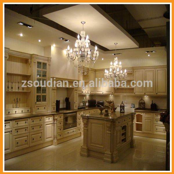 Guangzhou Professional American Project Solid Wood Kitchen ...