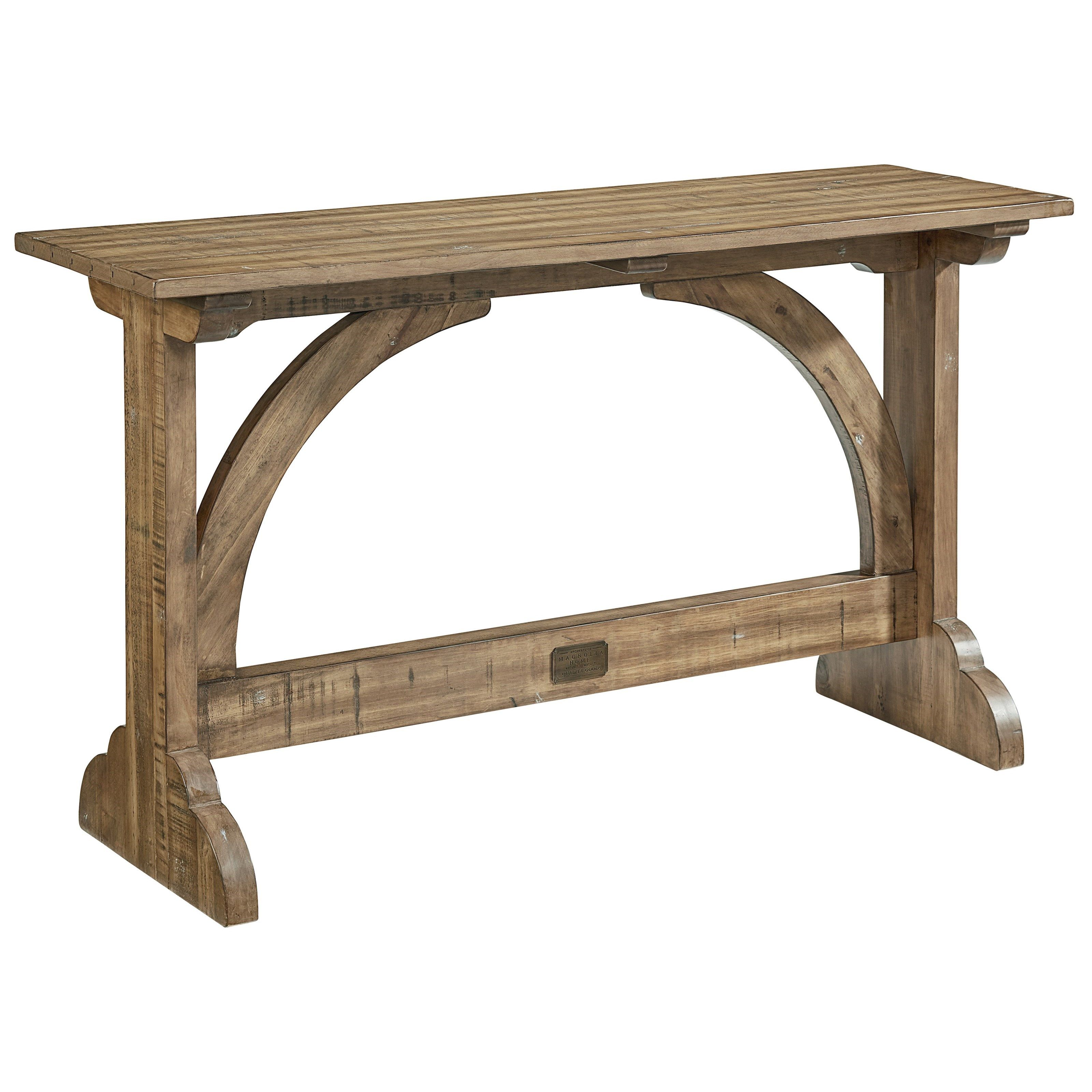 Barrel Vault Console Table Farmhouse Console Table Console Table Magnolia Homes