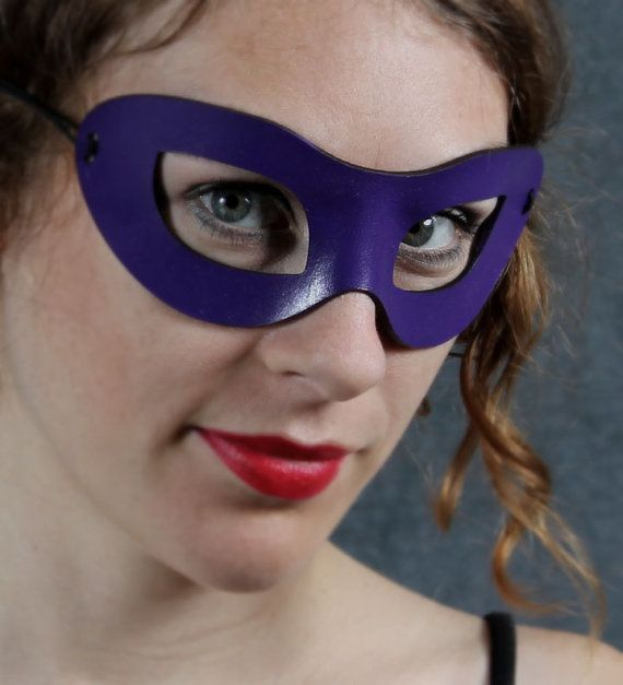 Incognito Leather mask in violet size S/M by TomBanwell on Etsy