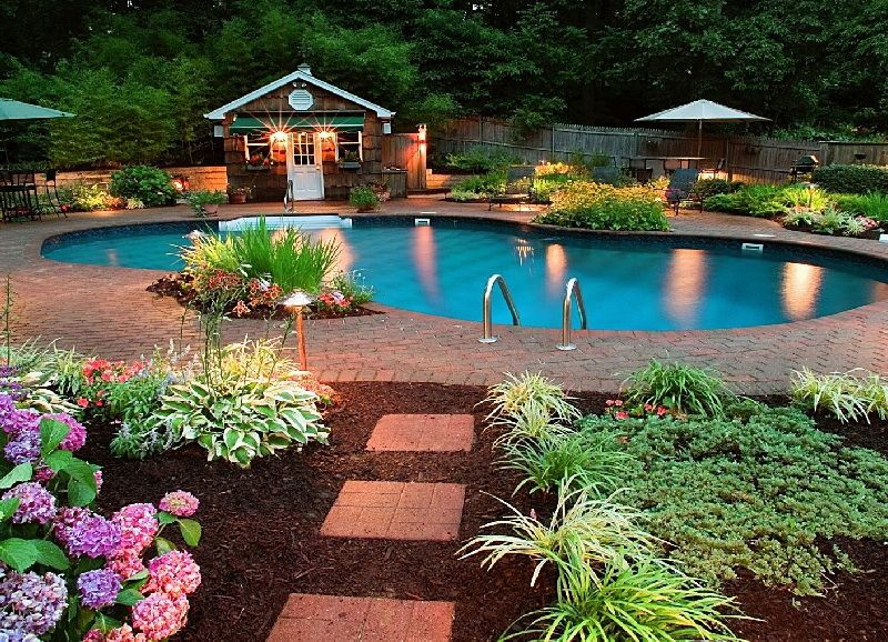 easy landscaping around pools pool landscaping ideas on a budget
