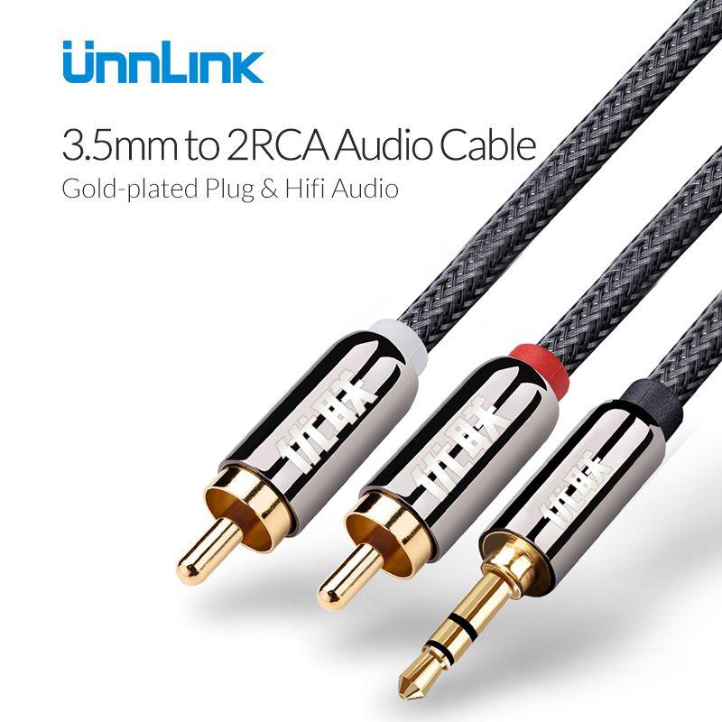 Unnlink Rca 3 5mm Jack Cable 2rca Audio Cable Aux Cable 3