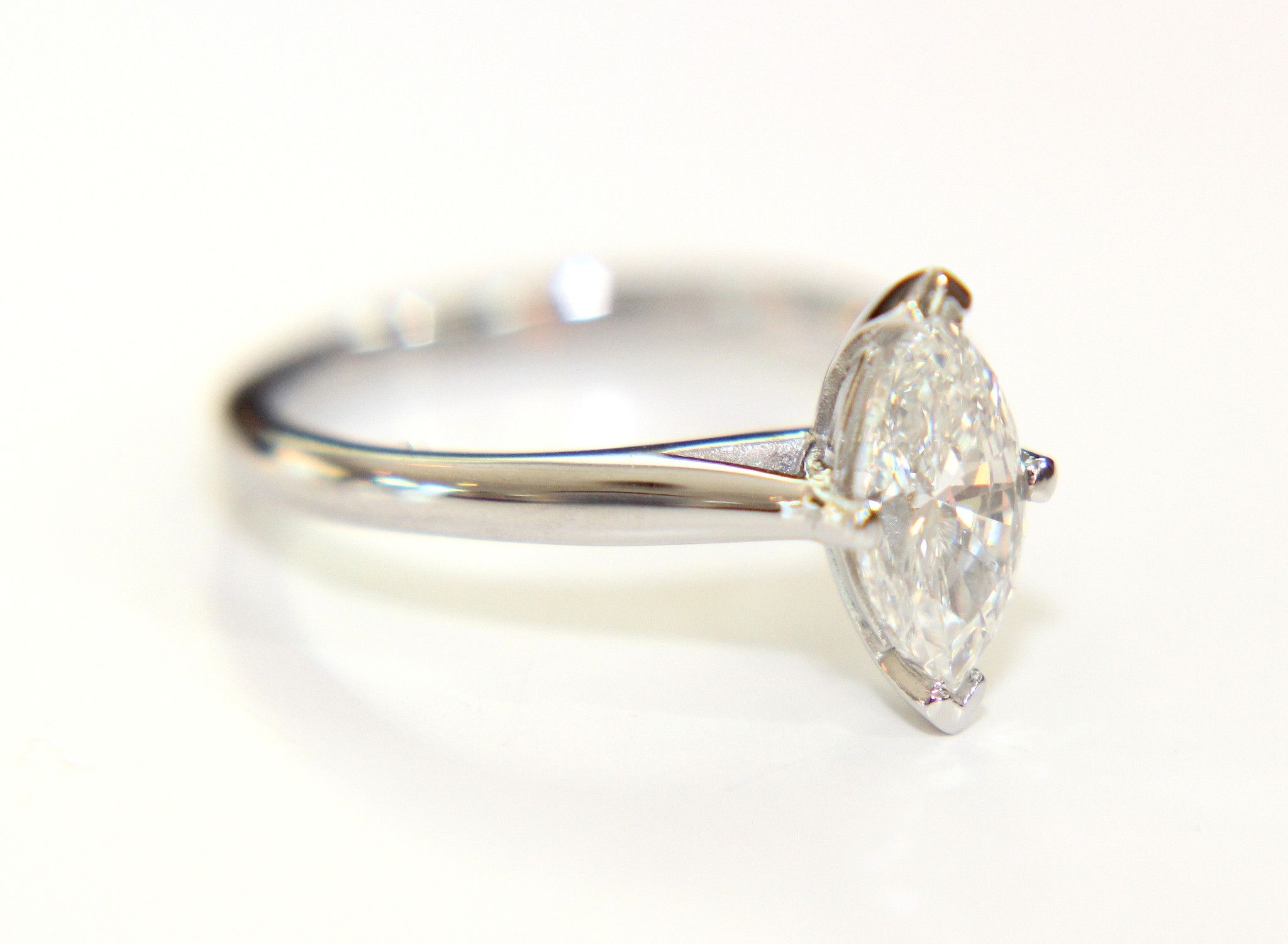 Campbell Marquise Diamond Solitaire Engagement Ring