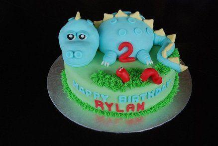 Dino  Cake by RazzberryCakes