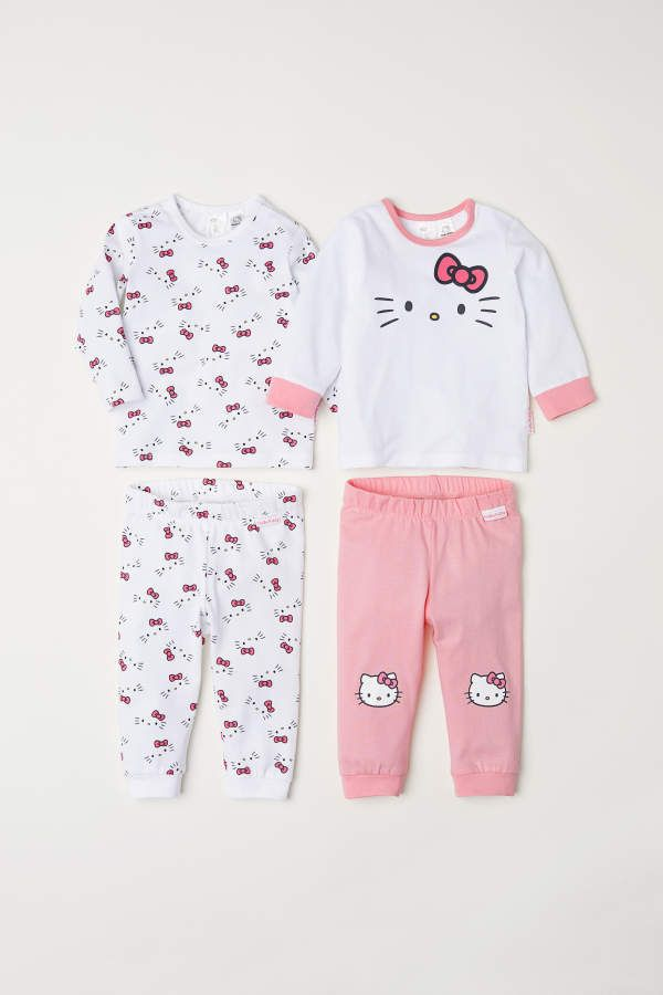 2a4b8cae8 H&M Jersey Sets #hk #hellokitty #pjs #pajamas #white #pink #sanrio #hello # kitty #baby #infant #toddler #h&m #clothes #bow #ribbon #cute #kawaii  #afflink
