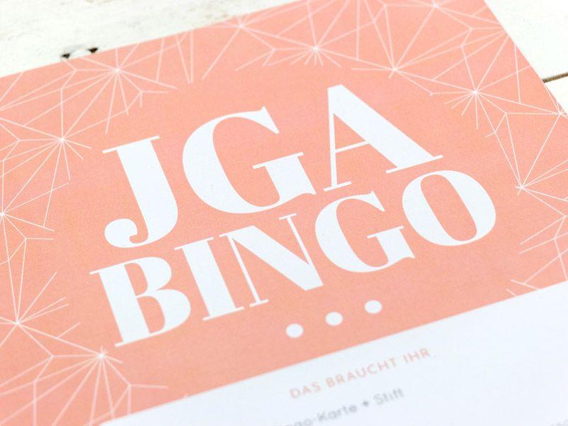 JGA BINGO – Spiel für den Junggesellinnenabschied (PDF)