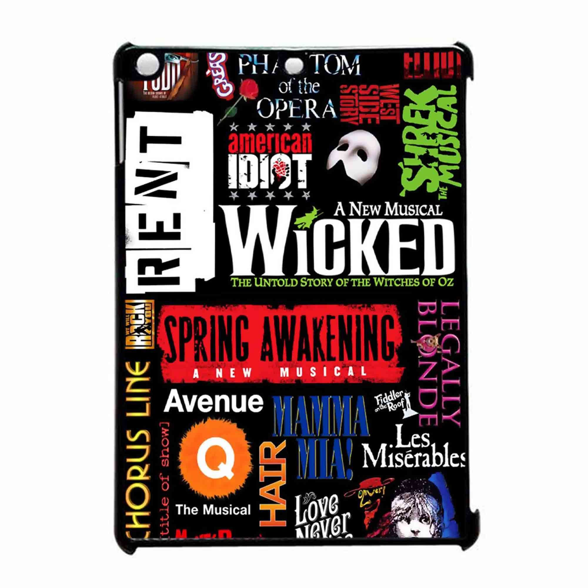 famous broadway musiacal plays collage ipad air case | theatre in