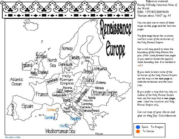 Renaissance 1300 to 1600 pinterest renaissance free maps and free map of renaissance europe renaissance homeschool unit study lapbook or notebooking page get it over at tinas dynamic homeschool plus gumiabroncs Gallery